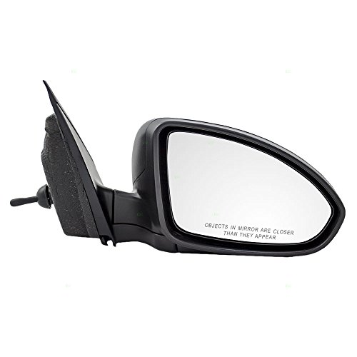 Passengers Manual Remote Side View Mirror Textured Replacement for Chevrolet Cruze & Cruze Limited 95186744