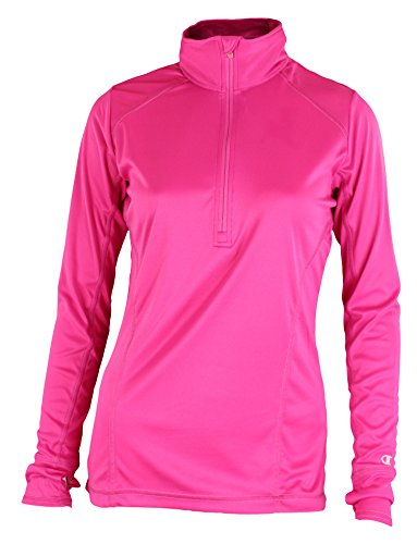 Champion Womens PowerTrain Vapor 1/4 Zip Pullover Top (Small, Knockout Pink) (Womens Sleeve Long Knockout)