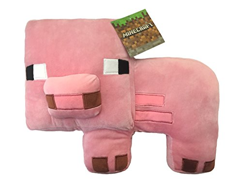 Mojang Minecraft Plush Stuffed Pig Pillow Buddy Kids Super Soft Polyester Microfiber 16 Inch Official Product