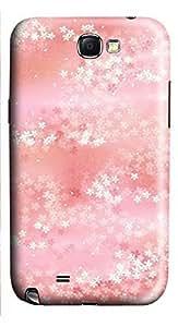 Samsung Note 2 Case Falling Flowers 3D Custom Samsung Note 2 Case Cover WANGJING JINDA