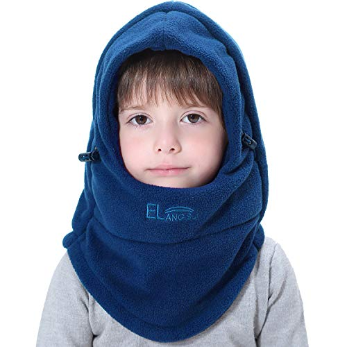 Price comparison product image Miracu Children's Winter Hat Balaclava, Thick Windproof Soft Warm Fleece Kids Ski Cap Face Mask Winter Hood for Outdoor Sports (Royal Blue)