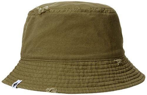 Rebel Canyon Men's Cotton Heavy Wash Distressed Summer Bucket hat Olive Green