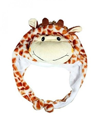 Giraffe_(US Seller)New HOODED Cap Hat Plush Beanie Fleece Winter