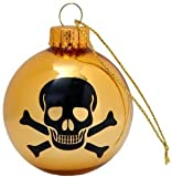 DCI Skull Glass Ornaments, Set of 4