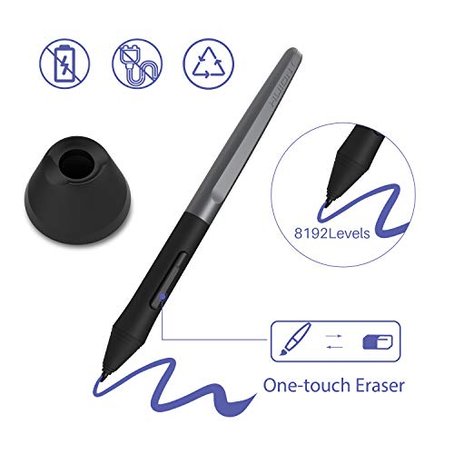 Android Supported HUION H610 Pro V2 Drawing Tablet, Upgraded Battery Free  Graphics Tablet with Tilt Function 8192 Pressure Sensitivity 8 Express