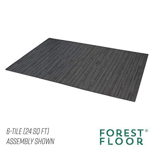 Forest Floor 3/8'' Thick Printed Wood Grain Interlocking Foam Floor Mats (Carbon, 16 Sq Ft (4 Tiles)) by Forest Floor (Image #3)