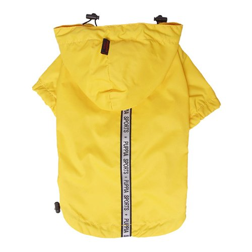 Puppia Authentic Base Jumper Raincoat, 3X-Large, Yellow by Puppia