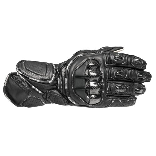 SEDICI Ultimo Race Leather Motorcycle Gloves - XL, Black (Motorcycle Race Gloves)