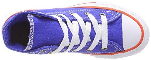 Converse Ctas Hi, Zapatillas Altas Unisex Niños Blau (Hyper Royal/Bright Poppy/White)