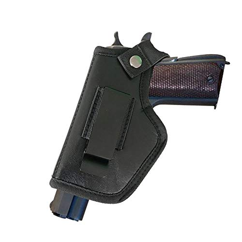 DMAIP Leather Right Left Hand Gun Holster for OWB Open Carry Fits Medium Compact Subcompact Handguns and Full Size Pistols