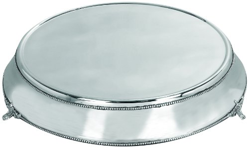 Deco 79 Stainless Steel Cake Plate with Silver Color by Deco