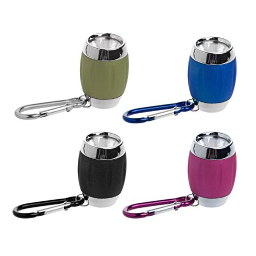 Shape Key Ring Light (HotelLee Portable Mini COB LED Flashlight Keychain Barrel Shape Handy Light Lamp Camping kids gift)