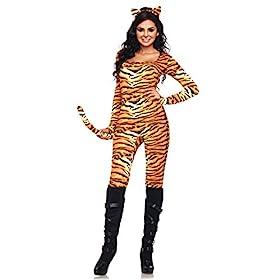 - 414WmHjgZXL - Leg Avenue Women's 2 Piece Wild Tigress Costume
