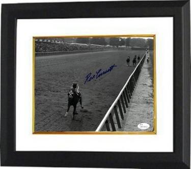 Ron Turcotte Signed Framed 16x20 Secretariat Belmont Stakes Photo BAS