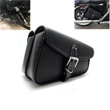 Motorcycle Swingarm Side Bag Tool Bags Pouch Saddlebag for Sportster PU Leather
