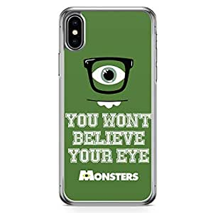 Loud Universe Mike Wazowski Quote iPhone XS Case Monsters University iPhone XS Cover with Transparent Edges