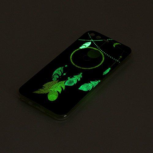 Funda Google Pixel Luminosa,SainCat Moda Alta Calidad suave de TPU Silicona Suave Funda Carcasa Caso Parachoques Diseño pintado Patrón para Carcasas TPU Silicona Ultra Delgado Ligero Goma Case Cover C Campanas luminosas de viento