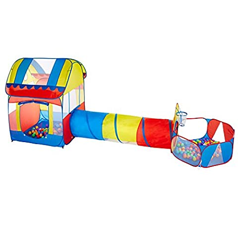 Autop Big Size Kids Play Tents Tunnels With Ball Pits Set,Portable Outdoor/Indoor Children Castle Playhouse - Perfect Gift For Toddlers(Ball Not (Pit For Kids)