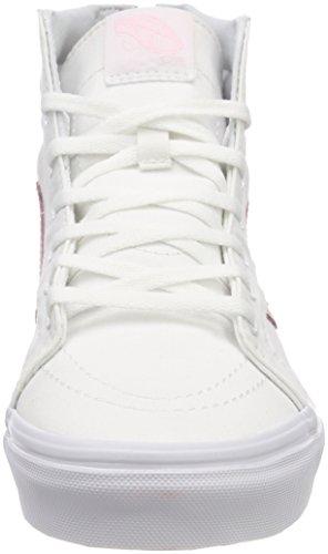 Vans Unisex-Kinder Sk8-Hi Zip Sneaker Weiß (True White/chalk Pink Q7x)