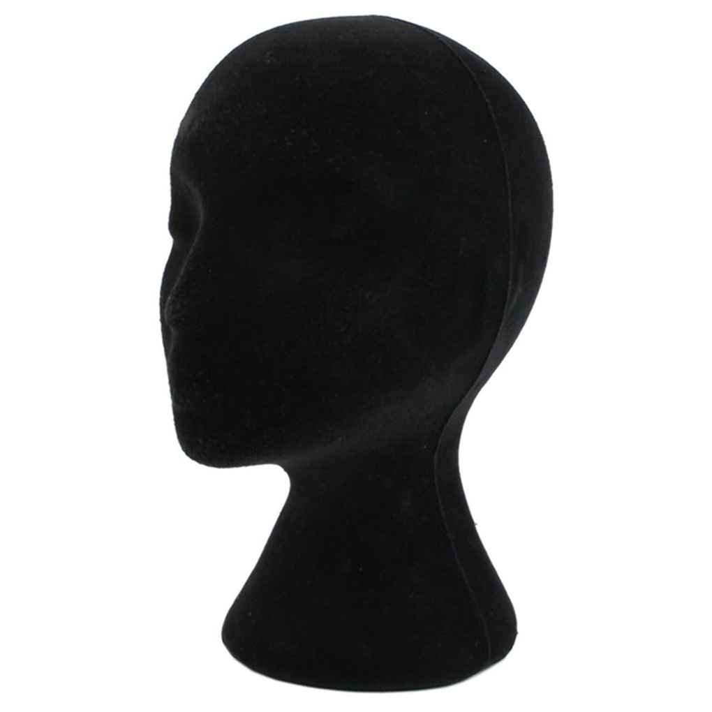 Elenxs Foam Mannequin Manikin Head Model Female Styrofoam Black Wig Hair Glasses Hat Display Stand