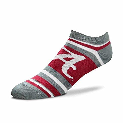 For Bare Feet Alabama Crimson Tide Adult NCAA Lotta Stripe Socks - Team Color, Large