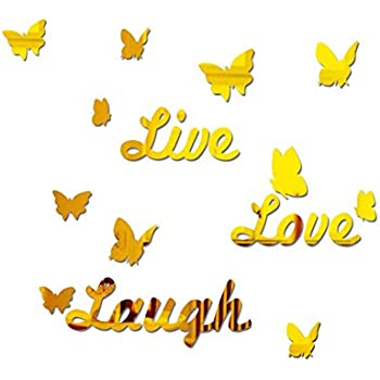 Amazon.com: Sis Live Love Laugh Mirror Wall stickers Decals Tattoo ...