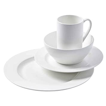 16 Piece Cascade Bone China Dinnerware Set  sc 1 st  Amazon.com : bone china dinnerware - pezcame.com