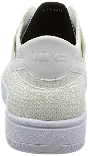 Scarpe da Uomo Dunk Nike Basket White 101 Black Flyknit EqTWwO