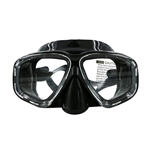 Water-chestnut AM-308 Double Layer Waterproof Anti-Fog Silicone Adult Diving Mask Goggles by Water-chestnut