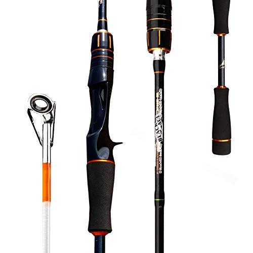 - Topfisher cs60 2 Pieces 6-Feet Casting Rod, 30 Ton Carbon Fiber Baitcasting Rod with Twin-Tip Medium and Medium Light Portable Fishing Rods