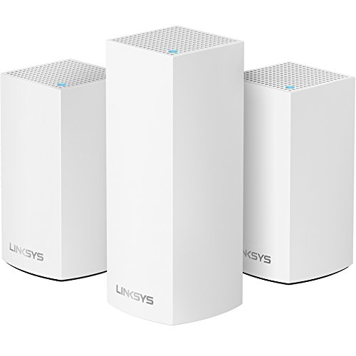 Linksys Velop Home Mesh WiFi System Bundle (Dual/Tri-Band Combo) - WiFi Router/WiFi Extender for Whole-Home Mesh Network (3-pack, White) from Linksys