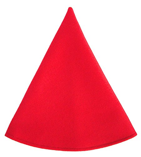[Red Gnome Hat Men's Costume Cap Cherry Red] (Gnome Costume Mens)