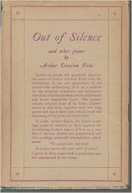Out Of Silence And Other Poems Ficke Arthur Davison Amazon Com