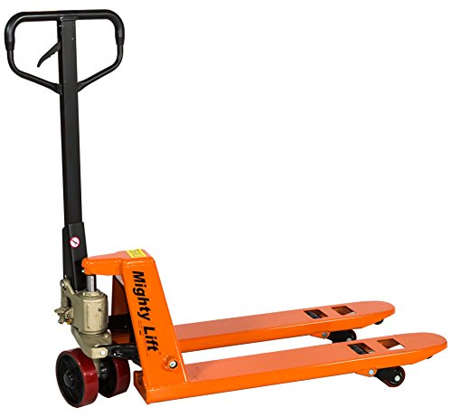 Mighty Lift ML2036 Narrow Specialty Pallet Jacks Trucks, 5,500 lb Capacity, 20