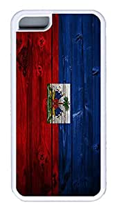 iPhone 5C Case,Wood stripe Series Customize Ultra Slim Wood Haitianflag1 Soft Rubber TPU White Case Bumper Cover for iPhone 5C