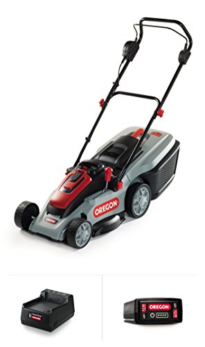 Oregon Cordless LM300 Lawn Mower Kit with A6 4.0 Ah Battery and Standard Charger