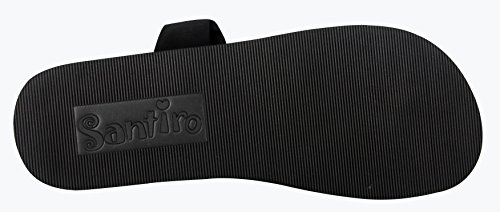 Santiro Womens Sandals Shoes for women flip flops Yoga Mat Sole Sling Thong Sandals Lightweight Slingback Flip-Flops SSD001B1-42