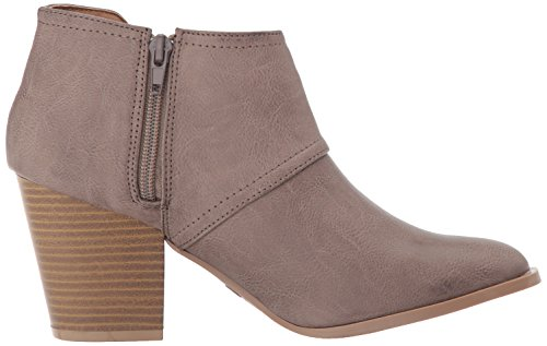 Qupid 10 Polyurethane Taupe Burnish Bootie Ankle Prenton Women's ZrvnEr