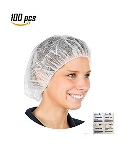 1000 PCS-21'', Disposable Bouffant (Hair Net) Caps, Spun-Bounded Poly, Hair Head Cover Net, Non-Woven, Medical, Labs, Nurse, Tattoo, Food Service, Health.