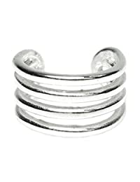 Queenberry 925 Sterling Silver Round Split Cuff Earring / Ear Cuff Wrap
