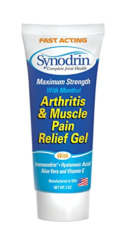 Cream 3oz Tube with Immunodrin, Menthol, Hyaluronic Acid and Vitamin E - Helps Relieve Muscle and Joint Pain for Men and Women (Hyaluronic Acid Joint Pain)