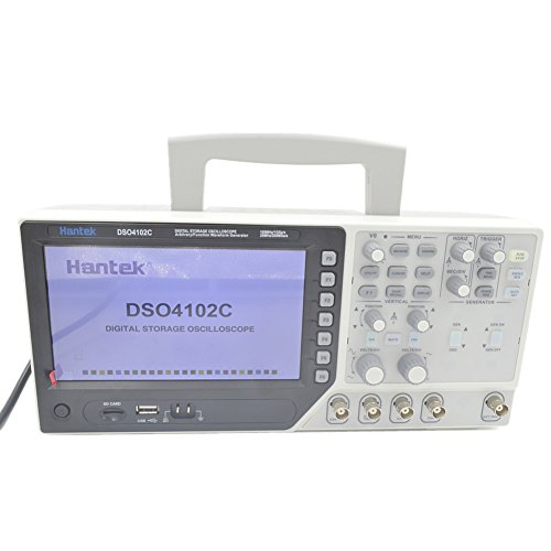 Hantek DSO4102C 2 Channel 100MHz Digital Oscilloscope with 1 Channel Arbitrary/Function Waveform Generator
