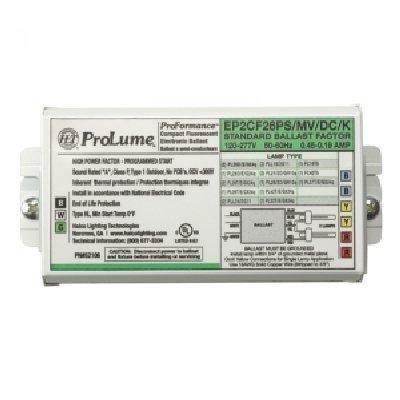 - Halco 52106 - EP2CF26PS/MV/DC/K Compact Fluorescent Ballast