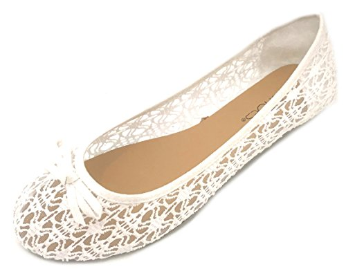 White Flats Womens Canvas 5060 Shoes Shoes Crochet 18 on Slip zOq0wxaBF
