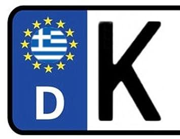 2x Kennzeichen Aufkleber Griechenland Nummernschild Sticker Ca2 Cm