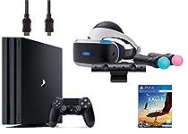 PlayStation VR Start Bundle 5 Items:VR Headset,Move Controller,PlayStation Camera Motion Sensor,PlayStation 4 Pro 1TB,VR Game Disc Eagle Flight