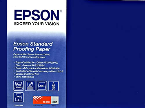 (Epson Proofing Paper Standard - Semi-mat proofing paper - 359 x 559 mm - 205 g/m2-100 sheet(s) - for Stylus Pro 11880, Pro 3880, Pro 4880, Pro 7890, Pro 7900, Pro 9890)