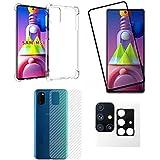 Capa Capinha + Película Vidro 3d + Pl Camera + Pel Traseira Samsung Galaxy M51 - (C7COMPANY)