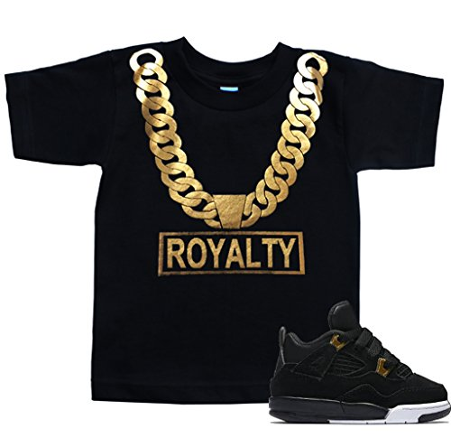 FTD Apparel Toddler's Gold Chain Royalty T Shirt - 2T Black