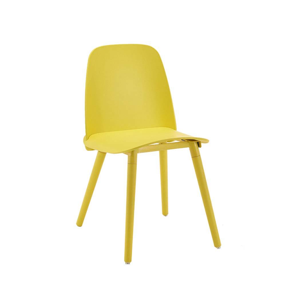 ZIJUAN Eiffel Esszimmerstühle Set Kunststoff Holz Retro Stil Für Büro Lounge Esszimmer Küche 49  42  82 cm (Farbe   Gelb) Gelb